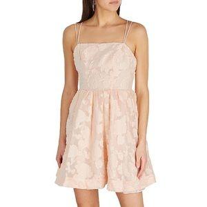 NWT Keepsake the Label Offset Mini Dress in Nude